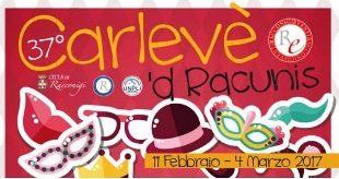 Venerdì 17 febbraio, apertura del 37° Carlevè 'd Racunis