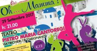 """""""Oh… Mamma!"""" al Teatro Cantoregi con parte dell'incasso per la Scuola Primaria di Carignano"""