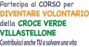 Croce Verde Villastellone, al via il corso per diventare volontario