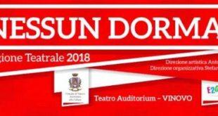 "Vinovo: la nuova stagione teatrale ""Nessun Dorma!"""