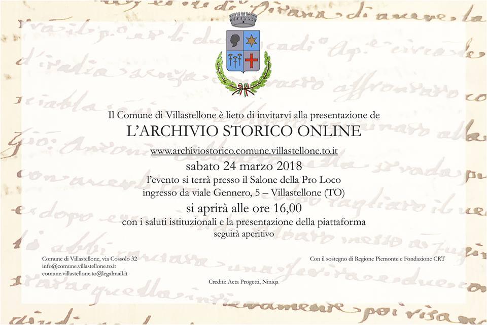 archivio storico villastellone