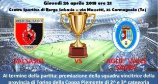 Coppa Piemonte2a e 3a categoria, la finale stasera a Salsasio