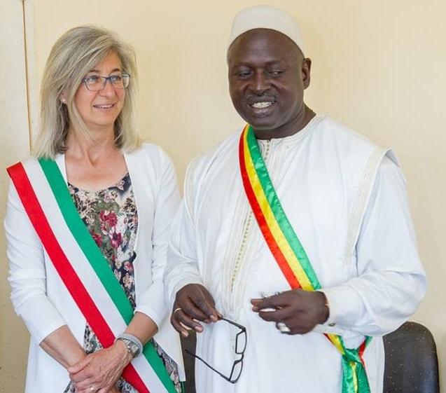 la visita di Ivana Gaveglio al sindaco di Ronkh (Senegal)