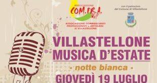 """Musica d'Estate: giovedì la """"notte bianca"""" a Villastellone"""