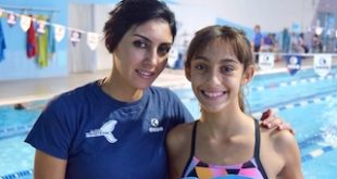 Valentina Crivello, baby campionessa di nuoto pinnato