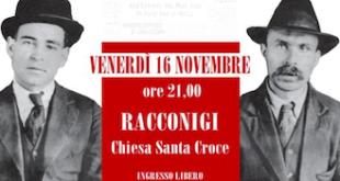 Una serata a Racconigi sulla vicenda di Sacco e Vanzetti