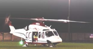 Anche a Santena l'atterraggio notturno dell'elisoccorso