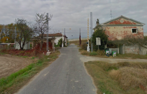 Il passaggio a livello in località Canapile ph. Google Earth