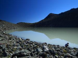 Le lac du glacier d'Arsine