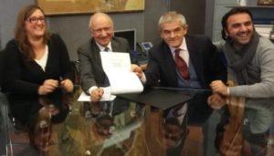 La firma del protocollo in Regione