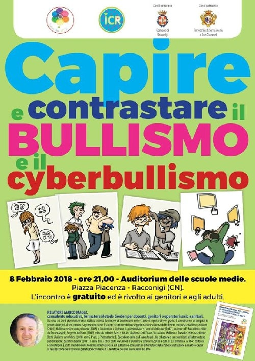 bullismo e cyberbullismo Racconigi locandina