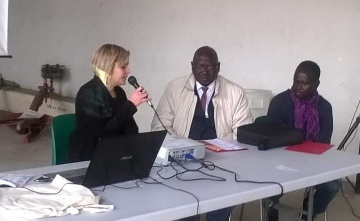 il sindaco di Ronkh Amadou Tidiane Ndiaye a Carmagnola