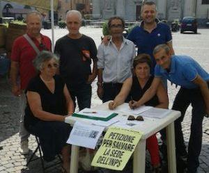 raccolta firme sede Inps Sicilia La Mura