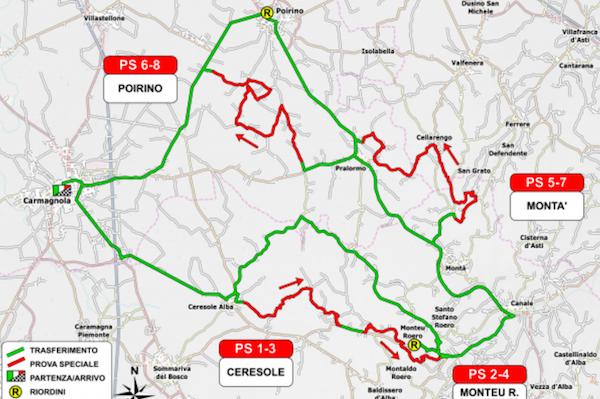 Rally Carmagnola 2018 cartina
