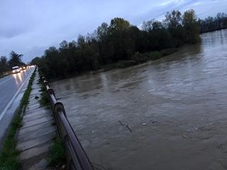 Maltempo Carmagnola novembre 2018 ponti sul Po ph. Il Carmagnolese