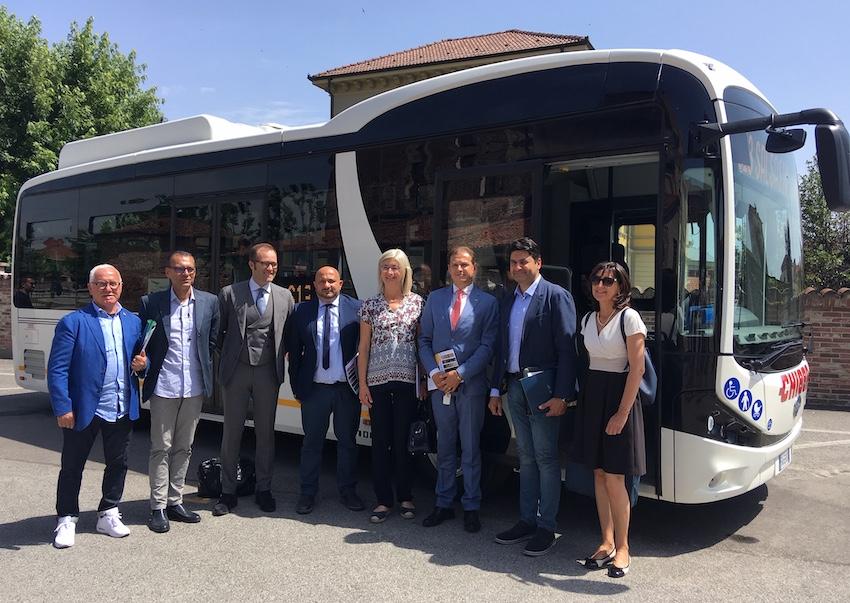 Bus elettrico Carmagnola - Ph. Il Carmagnolese