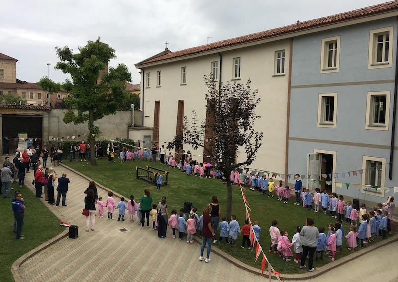 Cerimonia di inaugurazione della scuola dell'infanzia Sant'Anna ph Il Carmagnolese
