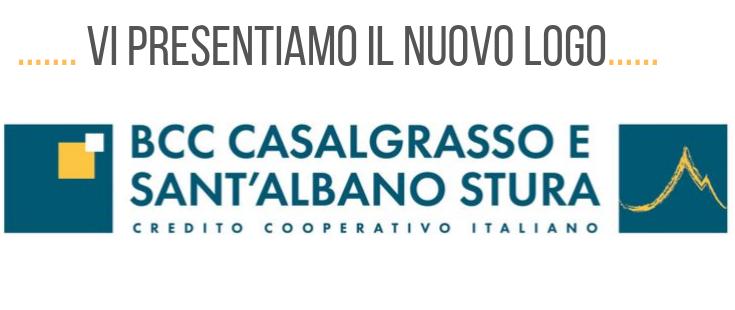 Il nuovo logo della BCC di Casalgrasso e Sant'Albano Stura