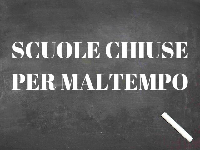 Scuole chiuse per maltempo a Carmagnola lunedì 25 novembre 2019