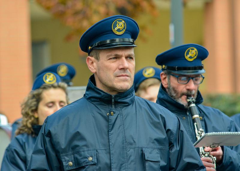 Donald Furlano, maestro della Banda Carmagnola (foto di Enrico Perotti - Il Carmagnolese) Società Filarmonica