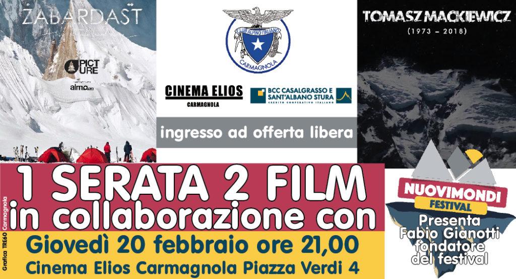 cinema film di montagna a carmagnola CAI Elios