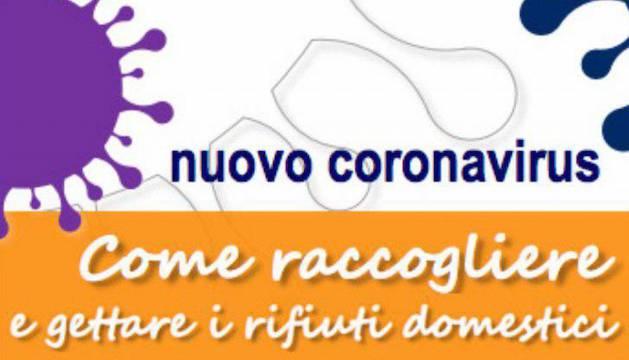 gestione rifiuti coronavirus iss