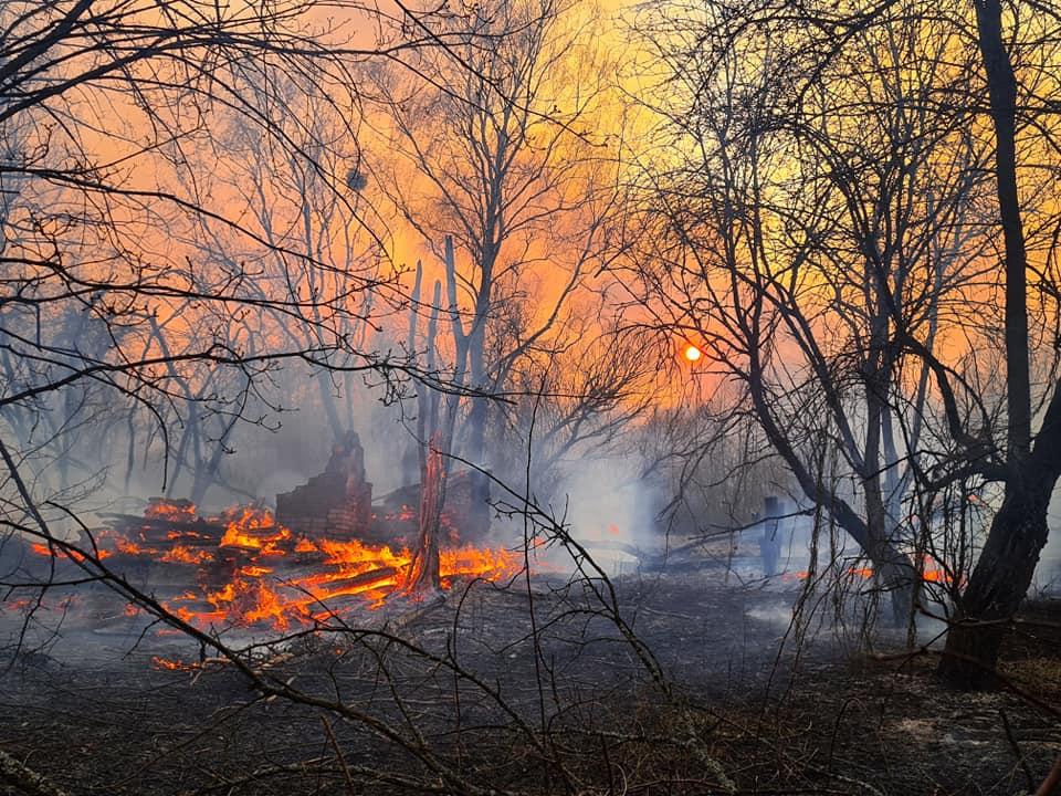 Incendi a Chernobyl foto Yaroslav Yemelianenko
