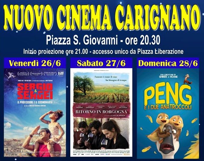 Cinema all'aperto Carignano 2020