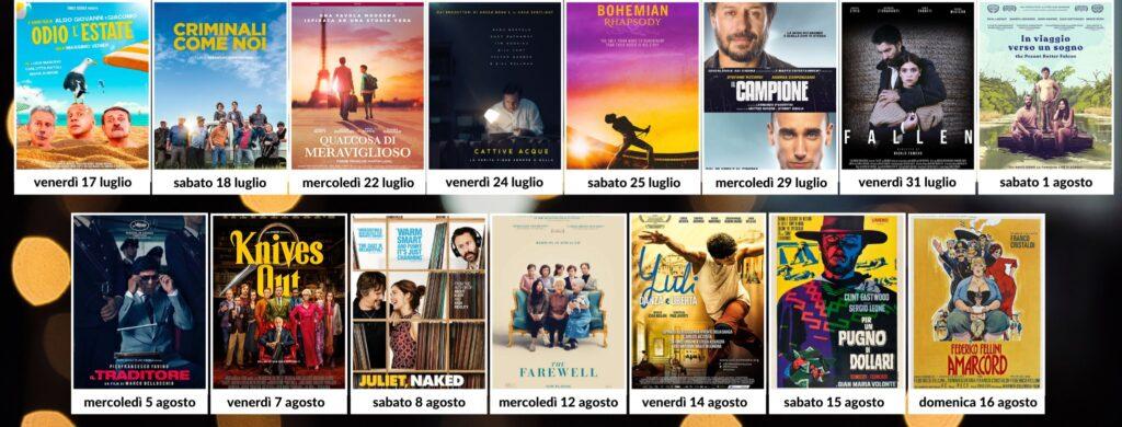 film cinema all'aperto carmagnola estate 2020 elios