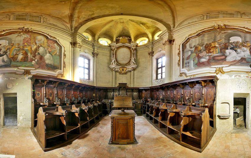 coro ligneo chiesa sant'agostino carmagnola