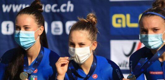 Valentina Basilico medaglia d'argento agli Europei 2020 di ciclismo su pista categoria Donne Juniores