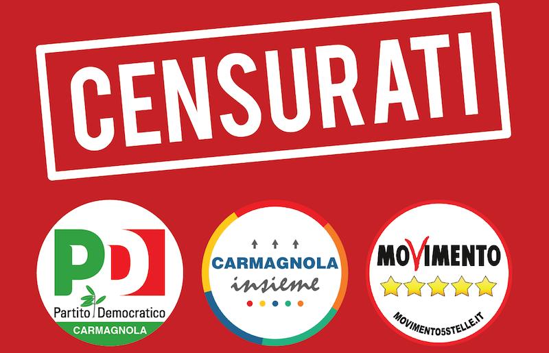 censurati pd m5s Carmagnola cammarata