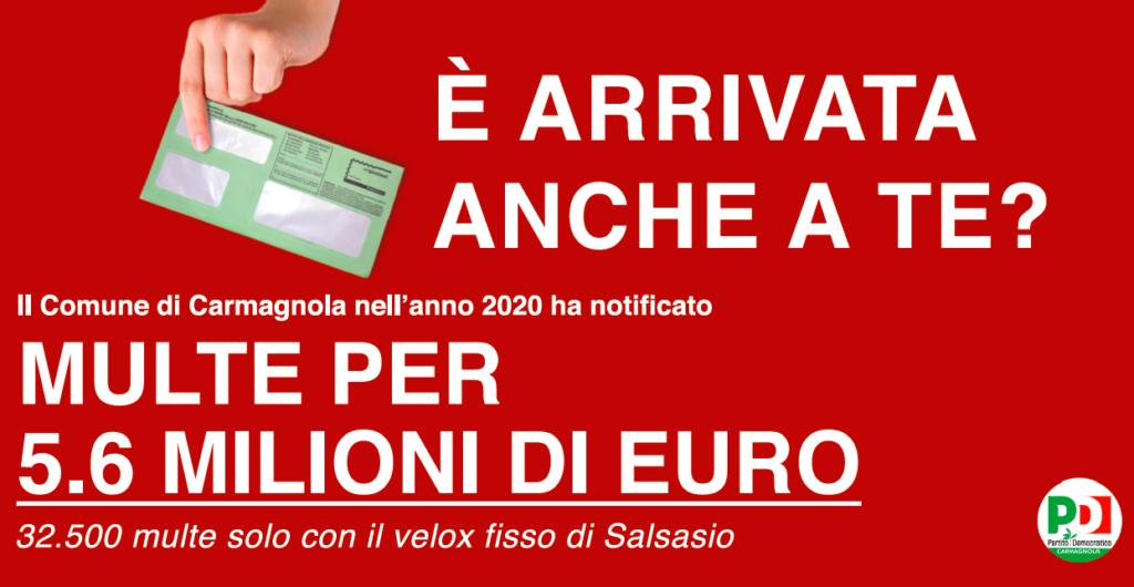 autovelox a Carmagnola manifesto Pd