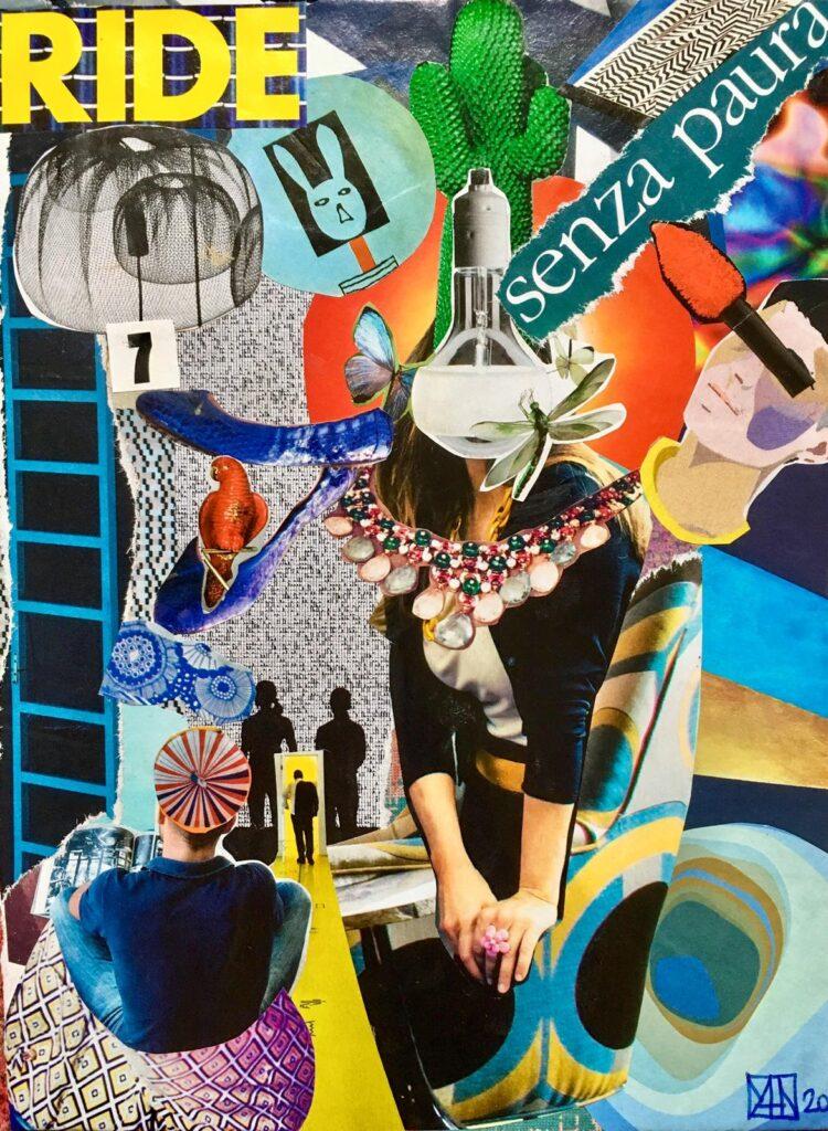 """Collage """"Brave"""" di Margherita Marchesini"""