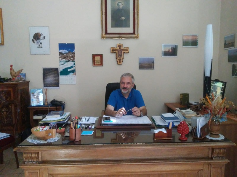Don Marco Casanova, direttore uscente dei Salesiani di Lombriasco